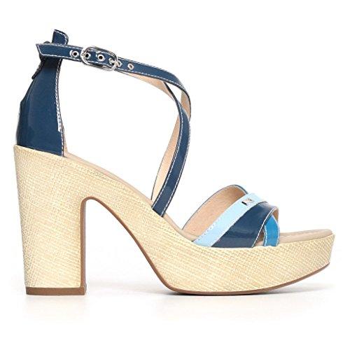 Nero Avio Shoes Women's Giardini Strap with rqg17rwX