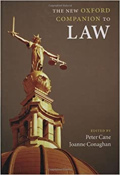 The New Oxford Companion to Law (Oxford Companions) 9780199290543 Criminal Law at amazon