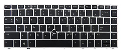 HP 702843-001 Keyboard with pointing stick - Full-sized layout with backlit durakey chiclet-style keys and dual-point - Includes keyboard cable and pointing stick cable (United States)
