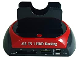 Docooler® Twin IDE/SATA Hard Drive Disk HDD Cloning Docking Station with USB HUB Support 2.5/3.5 inch Hard Disk