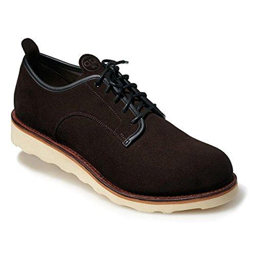 Chaussure De Course Pham Derby En Daim Marron Quoc Urban, 41100020, Pointure 42