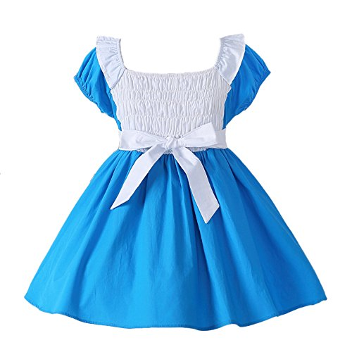 JiaDuo Little Girls Princess Alice Dress Up Cotton Halloween Costumes 130 by JiaDuo (Image #1)