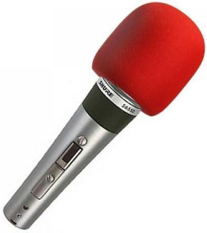 for most Microphone B Baosity Microphone Covers Foam Red Sponge Foam Microphone Windscreen Cover 2pcs