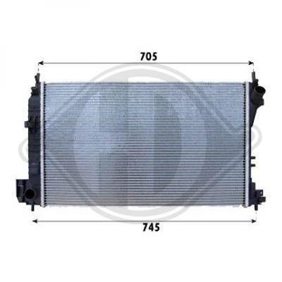 Diederichs DCM2652 Radiator, radiator: