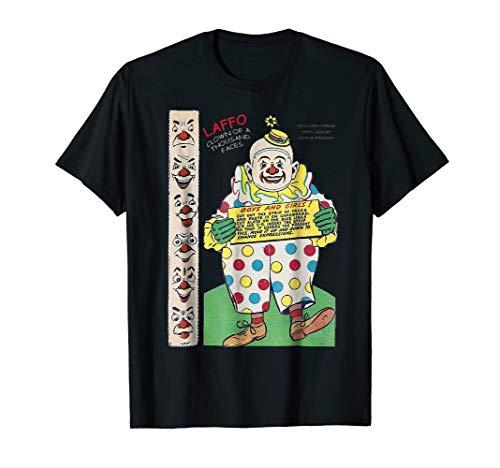 Vintage Scary Creepy Circus Clown Halloween Costume T Shirt]()