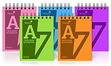 Silvine - Cuaderno (A7, 160 páginas, encuadernado de alambre, con tapas duraderas y fáciles de limpiar, 20 unidades)