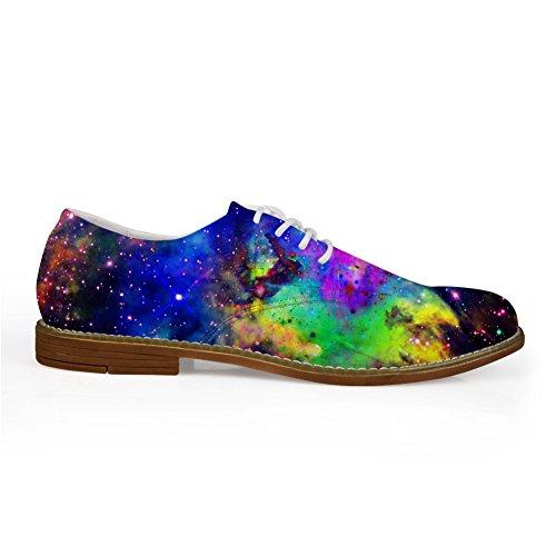 HUGS IDEA Galaxy Mens Fashion Lace Up Oxford Flats Shoes Galaxy 10 GVTzmwt5