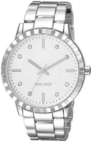 Nine West Women's NW/2283SVSV Crystal Accented Silver-Tone Bracelet ()