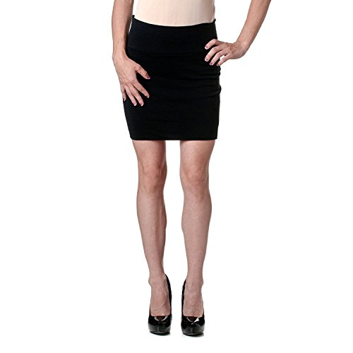Stretch Simple Cotton Mini Skirt Minijoup Basic Plain Skirt