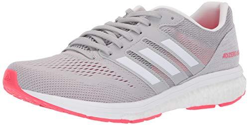 63334cf5fe adidas Women's Adizero Boston 7, grey/white/shock red, 8.5 M US