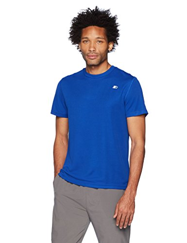 (Starter Men's Athletic-Fit Short Sleeve Tech T-Shirt, Amazon Exclusive, Team Blue, Medium )