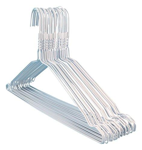100 Drahtkleiderbügel mit weiß, 40 cm breit Hangerworld