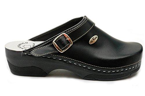 Pelle B2 Dr Zoccoli Donna Scarpe Rosso BRIL Pantofole nh Sabot Punto Nero BnBxqa8Uw