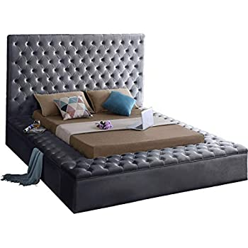 Amazon Com Queen Size Upholstered Bed Wingback Button