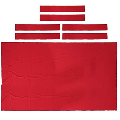 DYNWAVE Professional Billiard Pool Table Cloth Felt 9ft, Snooker Table Tablecloth for Modern Player - Choice of Color - Red (Billiard Tablecloth Table Accessories)