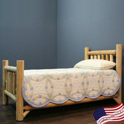 Honey Bed Sleigh Twin (Lakeland Mills 307703-OG-92961-O-415547 Rustic Appeal Low Bed King, Light Honey)