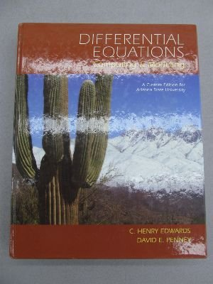 Differential Equations Computing & Modeling : A Custom Edition for Arizona State University
