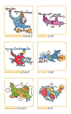 Choppers and Planes Gumtoo Temporary Tattoos