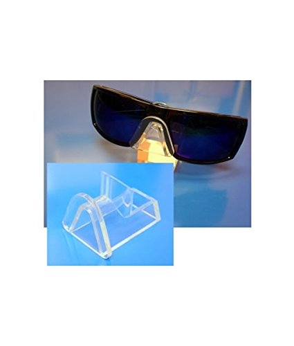 Source One 6 Pack Clear Acrylic Sunglasses Eyeglasses Display Stand Holder Fixture - Fixtures Sunglass