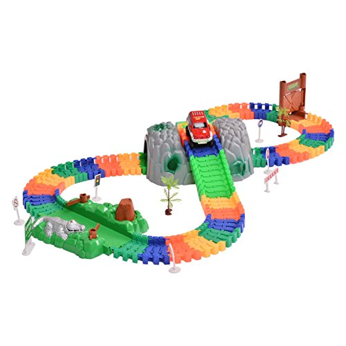 Arshiner Variable Track Playset Flexible Toy Deluxe Racing Game Set