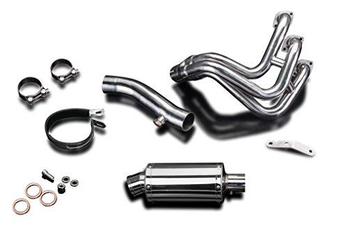 "(Yamaha FZ-09 Complete Exhaust SS70 9"" Stainless Steel Oval Muffler 14 15 16 17)"