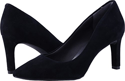 Suede Luxe Rockport Shoes Valerie Black Tm Women's Pump q0xaw0tr