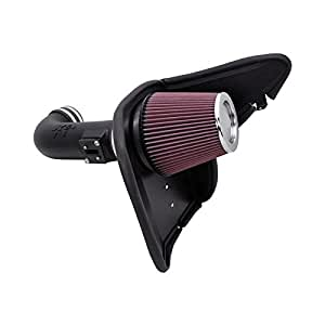 K&N Performance Air Intake Kit 63-3074 with Lifetime Red Oiled Filter for 2010-2015 Chevrolet Camaro SS 6.2L V8