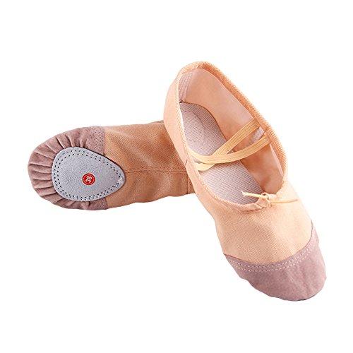 elegantstunning Kids Dancing Children Yoga Breathable Shoes Shoes Soft Dance Slippers Pointe Women Beige Girls Ballet Comfortable 28 Flats rOxqrnA
