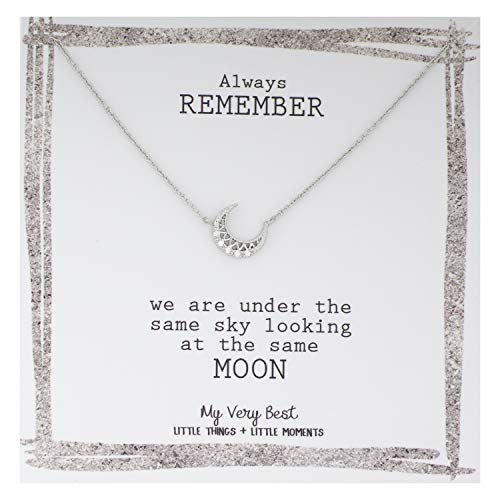 My Very Best Crescent Moon Necklace (Silver Plated Brass)