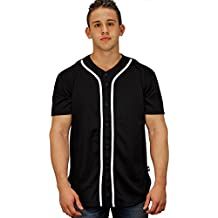 YoungLA Baseball Jersey T-Shirts Plain Button Down Sports Tee