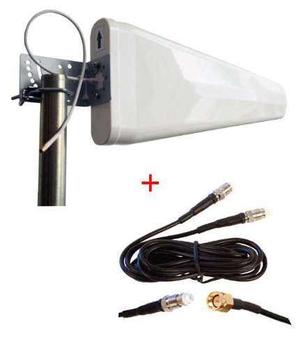 External Log Periodic yagi antenna for TP-Link TL-MR6400 Wireless 4G LTE Router wide band 3G 4G LTE by maxmostcom