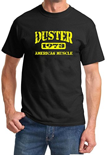 1973 Plymouth Duster American Muscle Car Color Design Tshirt medium yellow