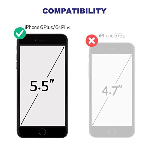 separation shoes 70346 f2a08 Waterproof Case Compatible with iPhone 6 Plus 6s Plus, Beasyjoy Case with  Built-in Screen Military Grade Full Body Protective Heavy Duty Metal Hard  ...