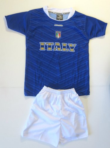 ITALY SOCCER KIDS SETS JERSEY & SHORT SIZE MEDIUM FOR 3 TO 4 YEARS OLD - Italy To Shipping Usps