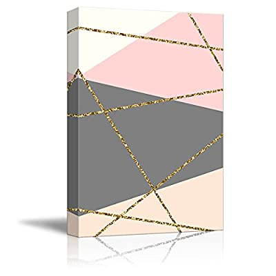 Professional Creation, Handsome Visual, Gold Glitter Accented Geometric
