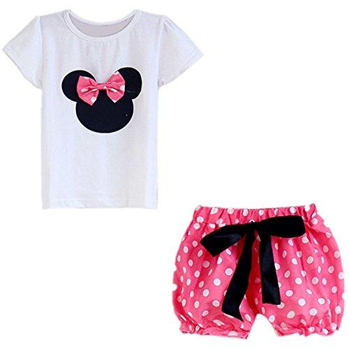 LittleSpring Baby Girls' Clothing Set Catoon Size 24M US Pink-pant