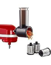 Slicer Shredder Attachments for KitchenAid Stand Mixer Cheese Grater Attachment for KitchenAid, Slicer Accessories with 3 Blades by InnoMoon
