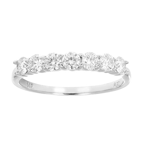 7 Stone Diamond Wedding Band - 6