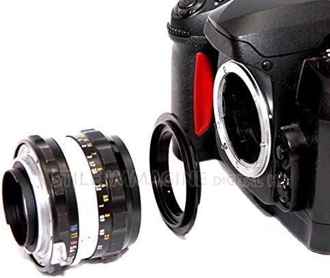 DIGITAL HD /® ANELLO INVERSIONE OTTICHE OBIETTIVI COMPATIBILE CON Canon EOS 2000D 4000D 200D 800D 80D 6D Mark II 6D 7D Mark II 5D Mark IV EOS-1D X Mark II 5DS ECCETERA 77 mm. - eos