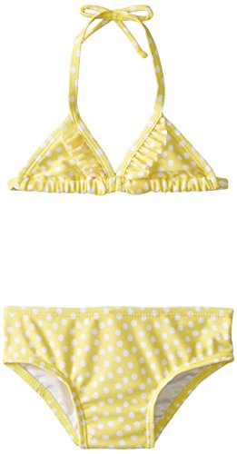 Solo International, Inc Baby Girls' Polka Dot Bikini, Yellow, 18 Months