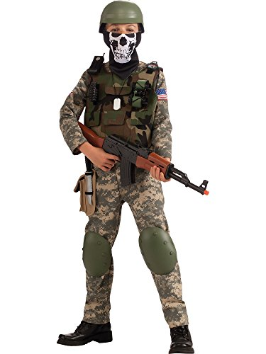 Deluxe Child Camo Trooper Costume, Large -