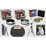 Opteka Professional HD2 Digital Accessory Kit for Kodak EasyShare Z650, Z740, Z710, Digital Camera