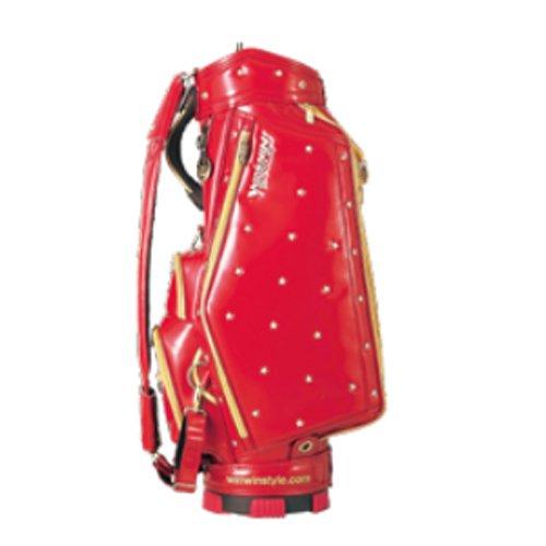 WINWIN STYLE(ウィンウィンスタイル) 2014年 SHINING STAR NEW CART BAG GOLD Version キャディバッグ カラー RD CB-522   B00JQ2TXWY