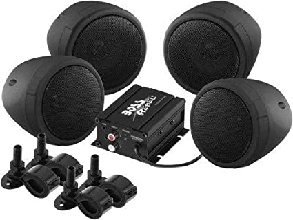 Amazon com: Boss Audio MCBK470B Motorcycle ATV Bluetooth Amp