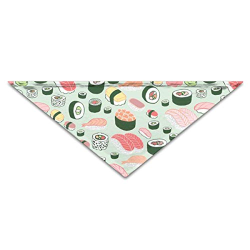 (OLOSARO Dog Bandana Sushi Cute Triangle Bibs Scarf Accessories for Dogs Cats Pets)