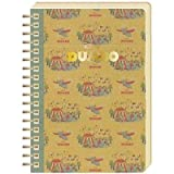 Japan Walt Disney Official Dumbo - Fantasy Moments Brown Spiral Ring B6 Big Large Notebook with White Pages Sheets Classic Poster Cover School Supply Stationery Pad Journal Diary Paper Memo Note