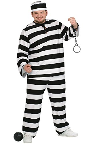Convict Man Plus Size Adult Costume - Plus -