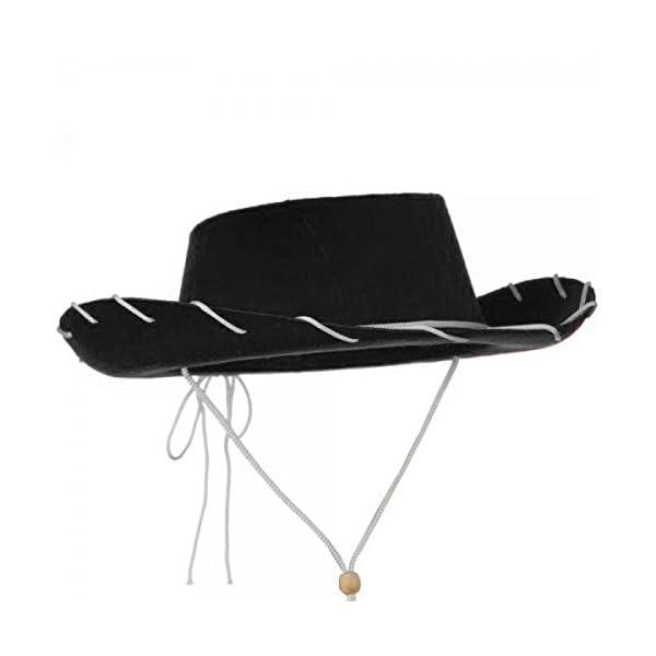 f13485dd96f NJ Novelty Children s Black Cowboy Hat Western Style Costume Kids ...