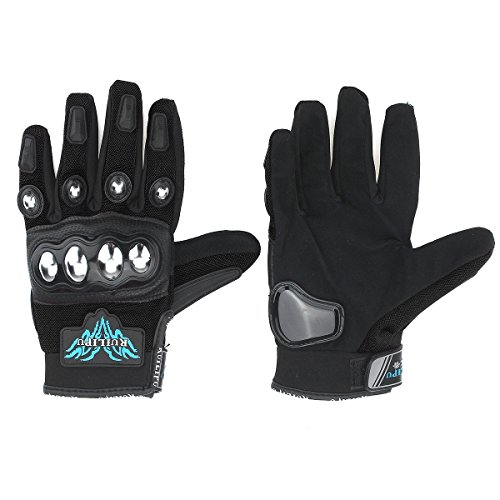 CoCocina Full Finger Gloves Warm Winter Protective For Motor Bike Motorcycle Scooter Cycling Skiing Racing - M - Black