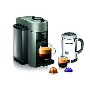 Nespresso A+GCC1-US-GR-NE VertuoLine Evoluo Coffee & Espresso Maker with Aeroccino Plus Milk Frother, Grey
